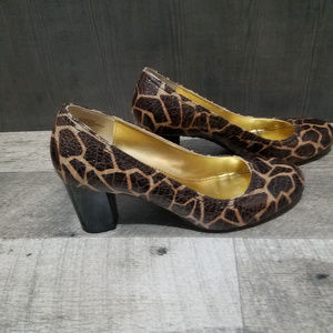 Anne Klein Faux Snake Skin Pump - Size 8 1/2 M